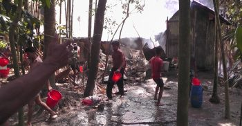 The fire burned ashes in the Dashmina of Patuakhali