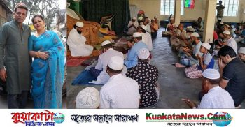 Prayers in the mosque for the recovery of Councilor Babu