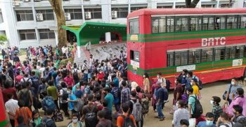 JU students are returning home by university bus
