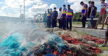 22,000 meters of illegal nets including fish were seized in Kalapapara