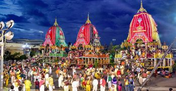 The traditional rath yatra begins