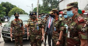 Army Chief inspects patrol activities in Mymensingh