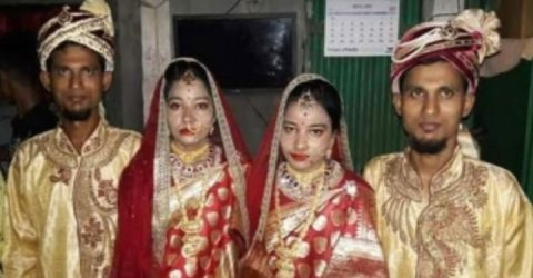 Marriage of twin brother with twin sister in Tangail